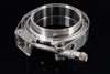 "3.5"" Stainless Steel V-Band Flange Assembly with Clamp - Black Sheep Industries Inc."