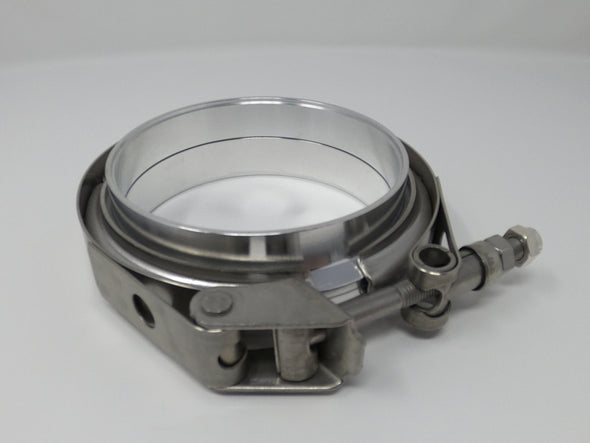 "2.5"" Aluminum V-Band Flange Assembly with Clamp - Black Sheep Industries Inc."