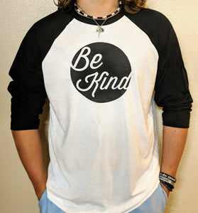 Black and White 3/4 sleeve raglan