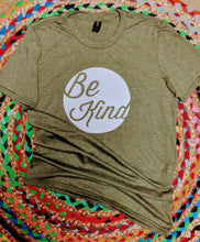 Load image into Gallery viewer, Olive Green S/S Be Kind tshirt
