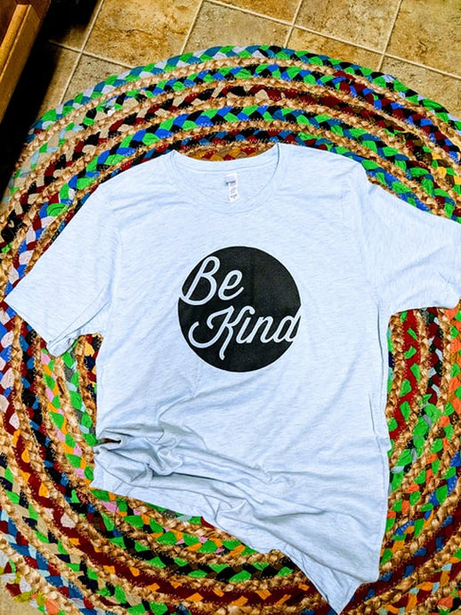 Ice Blue Heather Be Kind T-shirt