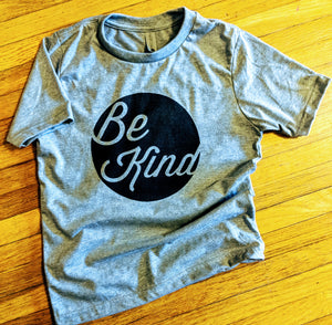 Youth Heather Gray Be Kind shirt