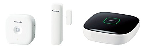 Panasonic Smart Home KX-HN6010EW Safety Starter Kit with hub, Window/Door Motion Sensor, White, Set of 3 Pieces