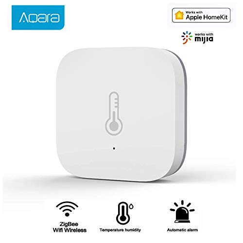 WANFEI Aqara Temperature Humidity Sensor, Smart Home Mi Smart Wireless Mini Temperature Humidity Sensor Real-Time Historical Records, Home Smart Thermometers and Hygrometer, Works with HomeKit MiHome