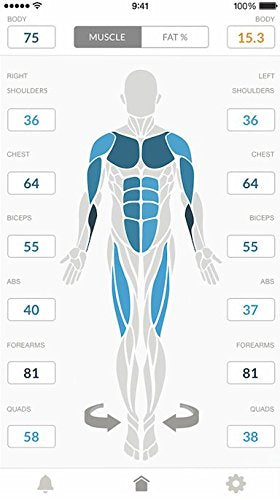 Skulpt Chisel Muscle Scanner Performance System. Identify Muscle Strengths and Weaknesses, and Know What To Work On Next. Measures Muscle Quality and Body Fat Percentage