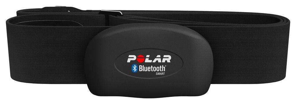 Polar H7 Bluetooth 4.0 Heart Rate Sensor Set for iPhone 4S/5 - Size M-XXL, Black