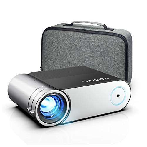 "Projector, Vamvo Mini Projector 1080p Full HD Support, Portable Video Projector 5500 Lux with Dolby, Home Cinema Projector 200"" Display Supported, Compatible with HDMI/VGA/USB/Laptop/TV Stick/PS4 etc."