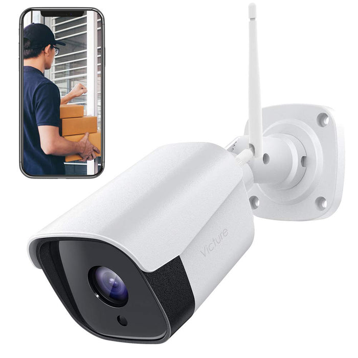 Victure Security Outdoor Camera 1080P Weatherproof WiFi CCTV Camera with Night Vision, Two Way Audio, Motion Detection, Outdoor Camera Compatible with IOS/Android