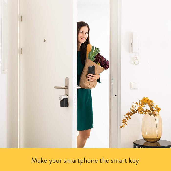 Nuki Smart Lock 2.0 | smart lock with door sensor | Bluetooth | iPhone and Android | UK Oval Cylinder compatible