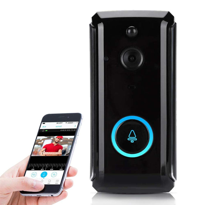 Smart Video Doorbell HD 720P Wireless Home Security Camera Home Intercom System with Remote Real-Time Video Two-Way Talk PIR Motion Detection IR CUT for iOS Android
