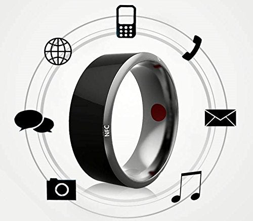 TiMER Jakcom R3F Smart NFC Multifunctional Ring 2016 for Android and Windows Phones, Black, Size 11