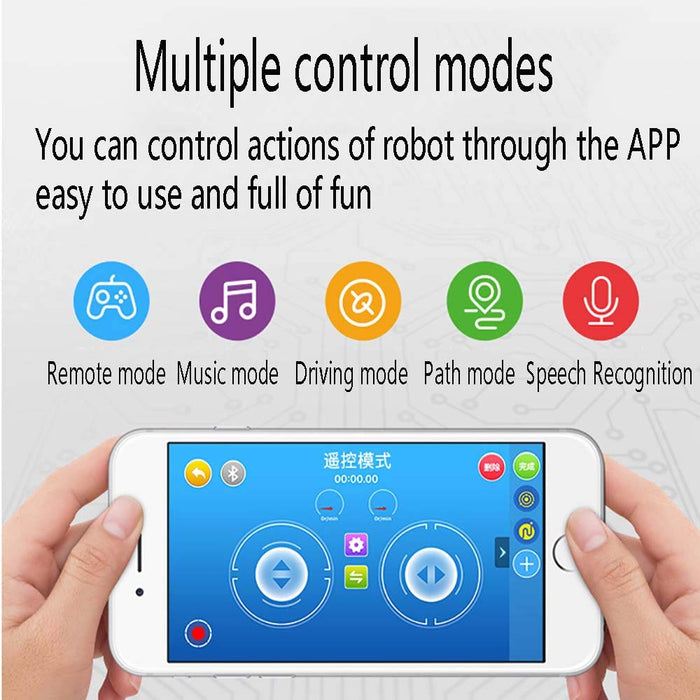 FXQIN Building Blocks Robot, App Controlled, Remote Control Robot Kit for Boys Girls Age of 6,7,8,9-14 Year Old, DIY Robotics Rechargeable