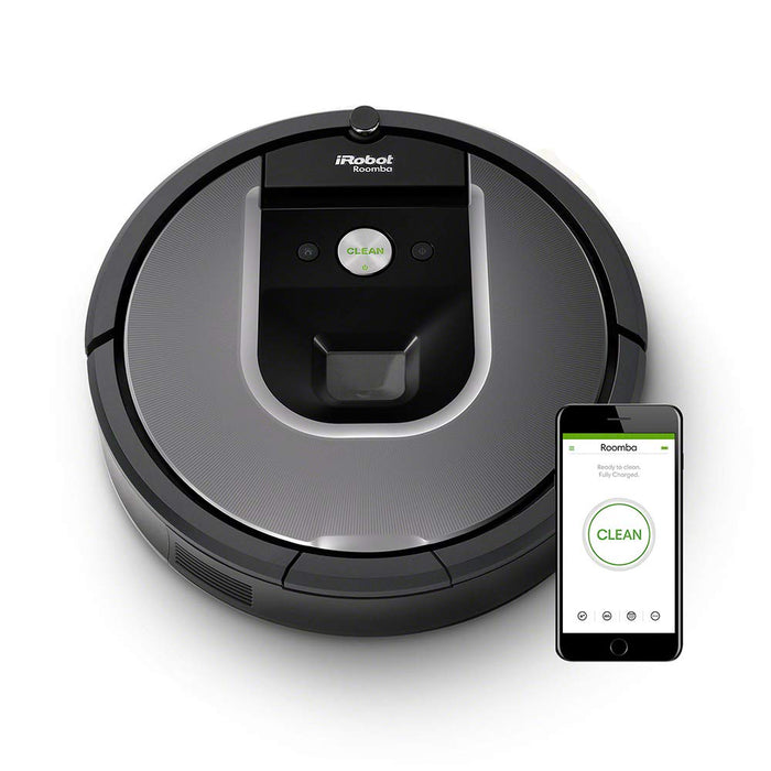 iRobot Roomba 960 Robot Vacuum Cleaner, WiFi Connected and Programmable via App, Silver