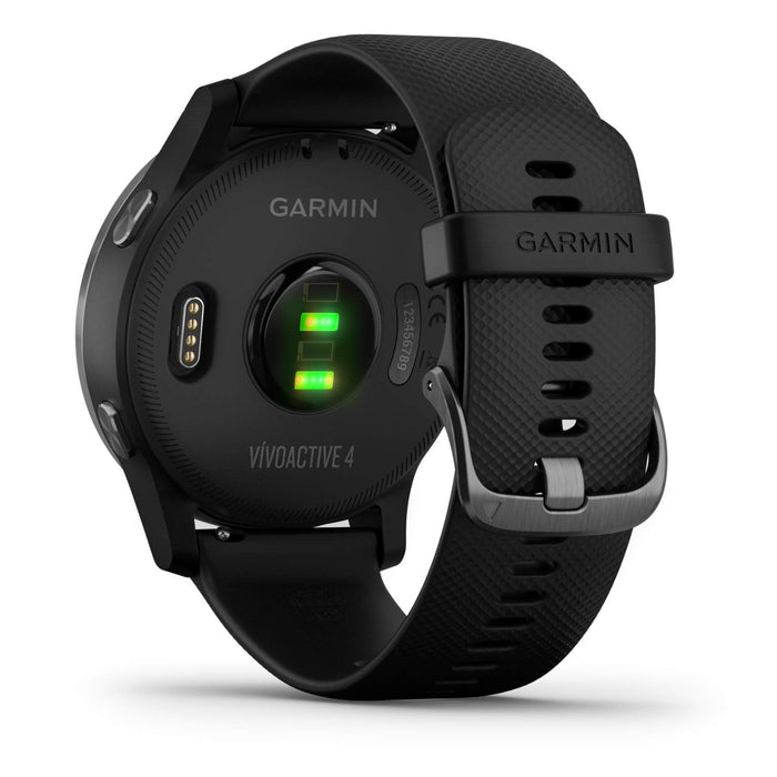 Garmin Vívoactive 4, GPS Smartwatch, Features Music, Body Energy Monitoring, Animated Workouts, Pulse Ox Sensors and More, Black/Slate