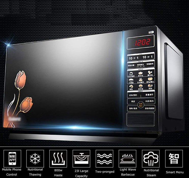 Electric Microwaves Smart App Remote Control Touch Screen Intelligent Lightwave Oven Household MicrowaveChild-Safe Lockout Feature | Oven