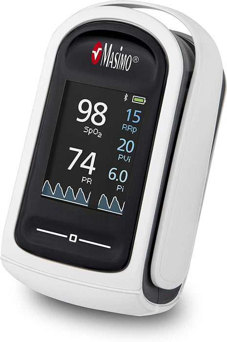 MASIMO - MightySat Fingertip Pulse Oximeter I Low-Perfusion Monitoring I Finger Pulse Oximeter with Display I Blood Oxygen Saturation Monitor I Accurate I incl. Carrycase, Batteries & Lanyard