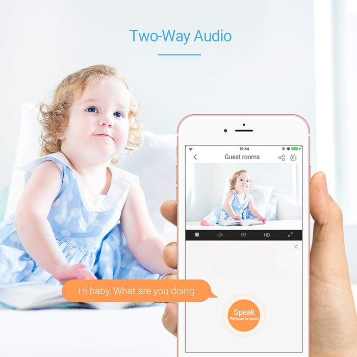 Ezviz Security Camera Baby Monitor, 10m Night Vision, Two Way Audio, Smart Motion Tracking, Cloud Service, Work with Alexa and Google Assistant(CTQ6C)