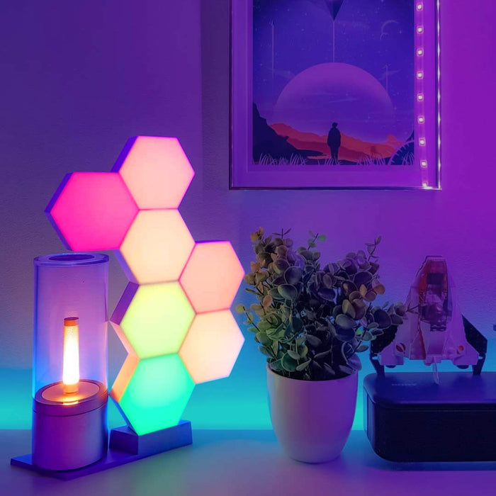 Cololight Pro - Smart LED Light Panels (3-Pack Starter Kit) - Colour Changing Mood Lighting with 16 Million RGB Colours - Works with Alexa and Google Assistant