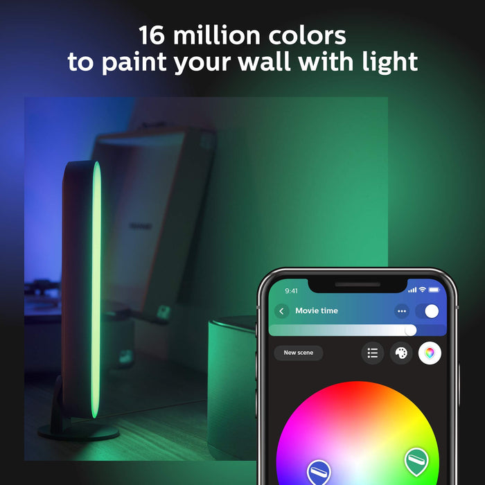 Philips Hue Play Colour Wall Entertainment Light, Double Pack, White