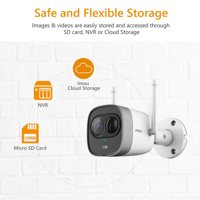 Imou Bullet Pro (G26EP) Outdoor Active Deterrence WiFi Security Camera - 1080P HD, Built-in Spotlight and 110dB Siren, PIR Detection, 2-Way Audio, Night Vision, App Control - Works with Alexa/Google