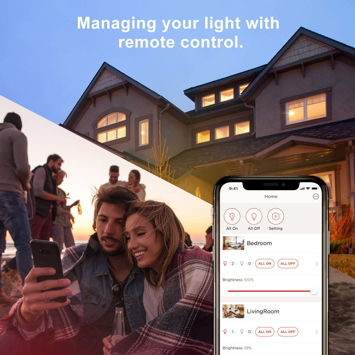 Sengled Element Alexa Smart Bulbs LED Compatible with Echo & Google Assistant, E27 Dimmable Warm White, Remote Control by Smartphone,Lighting Starter Kit, [Energy Class