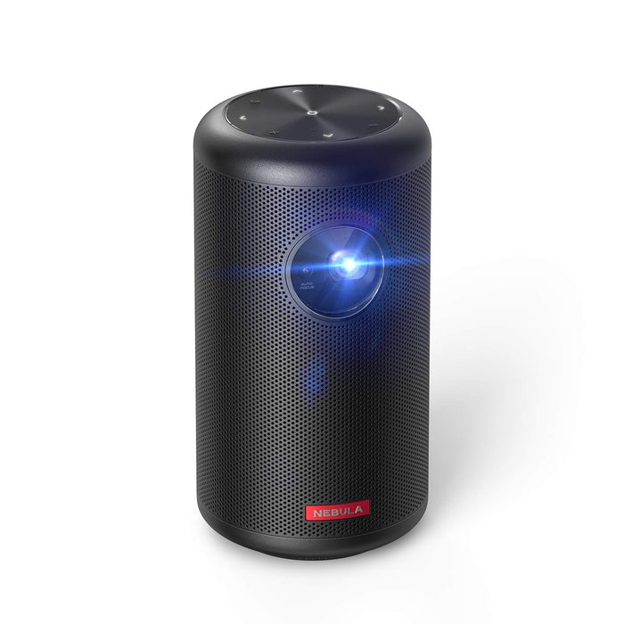 Nebula Capsule II Smart Mini Projector, by Anker, Palm-Sized 200 ANSI Lumen 720p HD Portable Projector Pocket Cinema with Wi-Fi, DLP, 8W Speaker, 100 Inch Picture, 3,600+ Apps, Movie Projector
