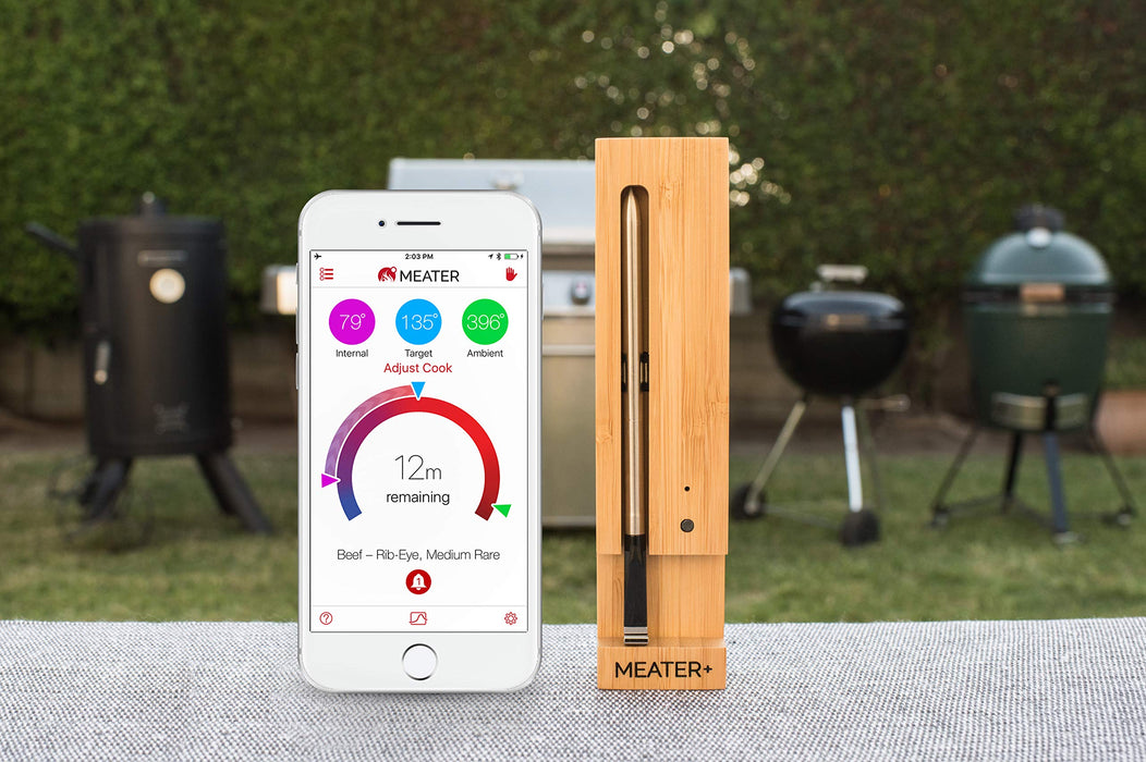 Meater+ 50 metre Long Range Smart Wireless Meat Thermometer for the Oven Grill Kitchen BBQ Smoker Rotisserie with Bluetooth and WiFi Digital Connectivity