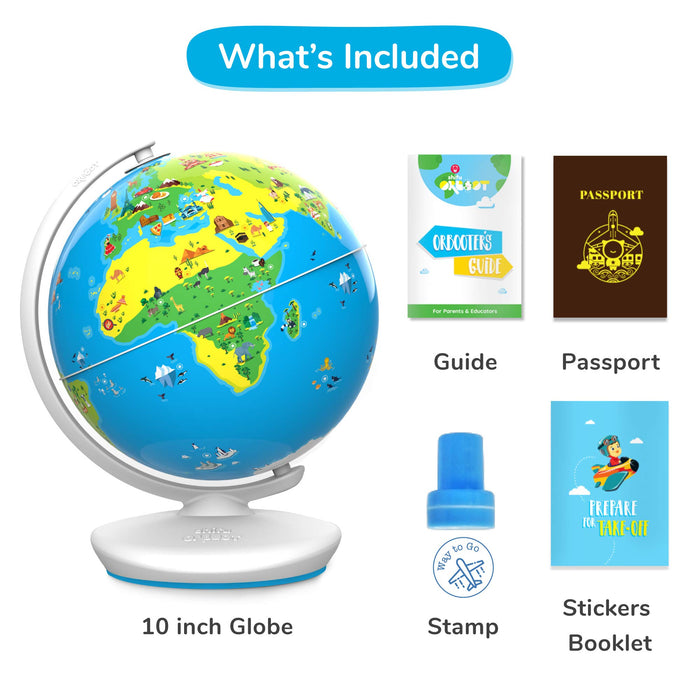 PlayShifu Shifu Orboot: The Educational, Augmented Reality Based Globe | STEM Toy for Boys & Girls Age 4 to 10 years for Kids (No Borders or Names on Globe)
