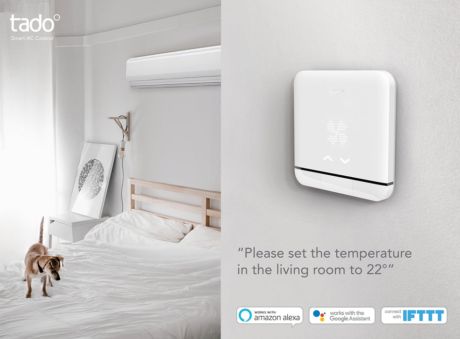 Tado° Smart AC Control V2 - Climate Assistant for Your Air Conditioner, Wi-Fi, Works with Amazon Alexa, Google Assistant & IFTTT