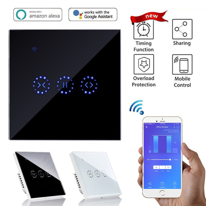 Sonoff Smart Home WiFi Electric Touch Blinds Curtain Switch Ewelink APP Voice Control by Alexa Echo for Mechanical Limit Blinds Motor