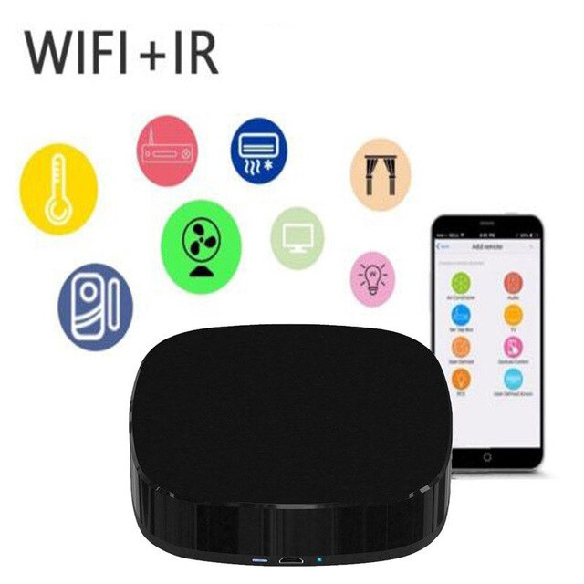 Centechia A1 Mini Smart Home Automation 2.4GHz WIFI IR Remote Control with Alexa.Google Home Intelligent Universal Voice Remote Control
