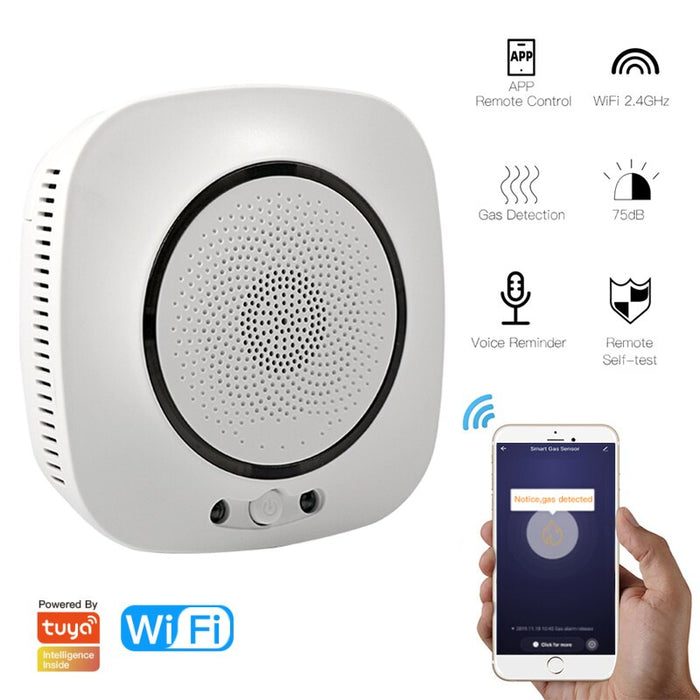 Centechia Wireless Smart Life APP WiFi Alarm Smoke Fire Sensitive Detector Home Security Alarm Smoke Detector Sensor Fire Equipment