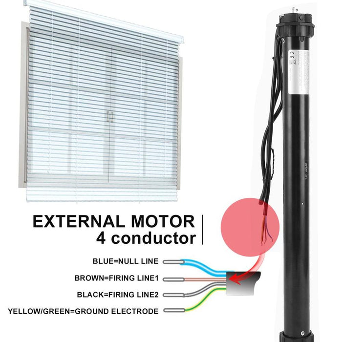 Roller Blinds 2019 Home Useful FT45B 10Nm/20Nm Roller Shutter Motor 60mm Electric Roller Blinds Motor Tubular Automatic Curtains Motor