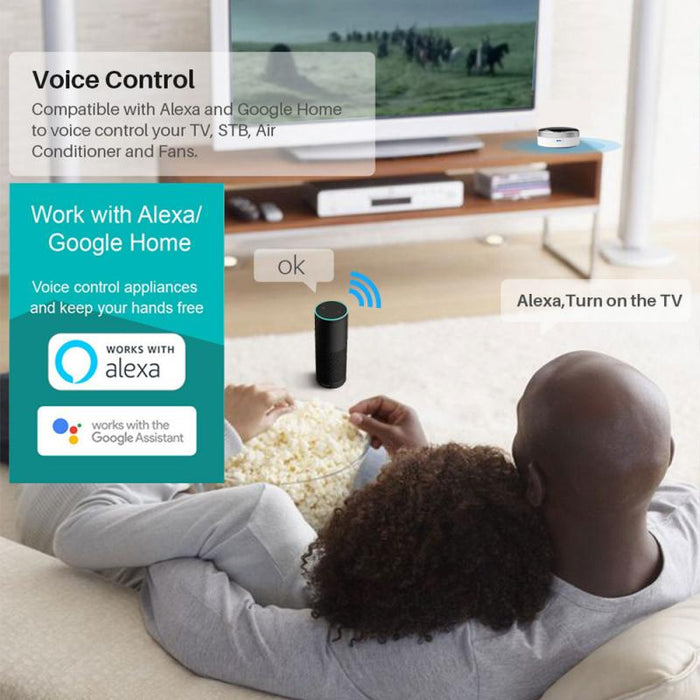 Centechia App Universal IR Smart Remote Controller WiFi+Infrared Home Control Hub 360 Degrees Google Assistant For Alexa IFTTT