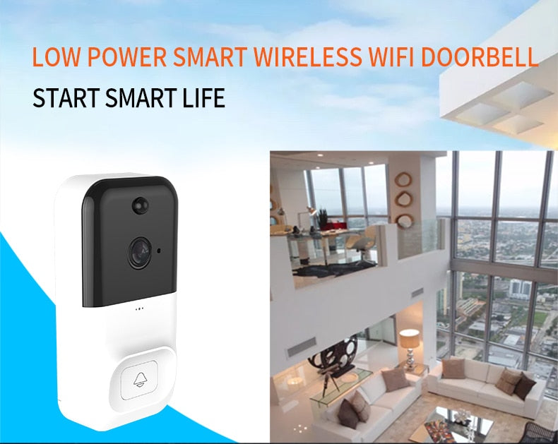 Vwinget Newly Vedio Smart Doorbell Camera Wifi Wireless Call Intercom Video-eys  Security  door bell Ring for phone Home Security Camera