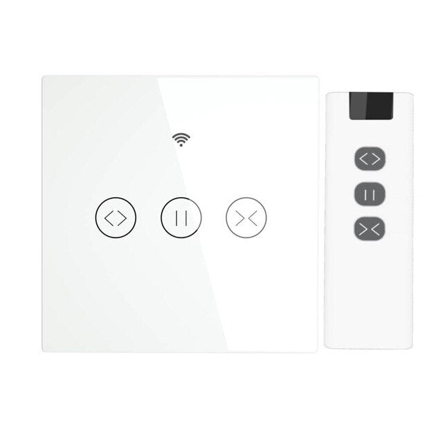 Tuya Smart Life WiFi-rf Smart Touch Curtain switch Blinds Roller Shutter door Switch 1 RF remote control multiple switches Alexa