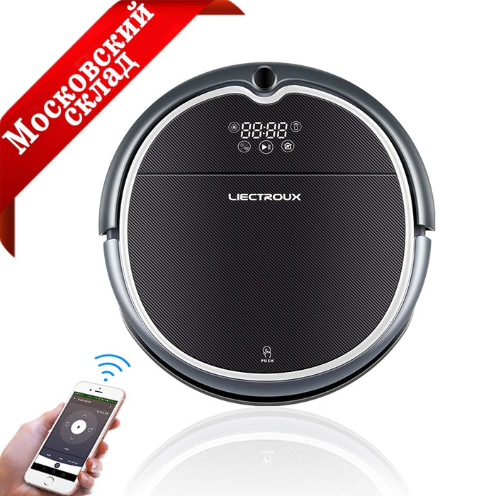 Liectroux Robot Vacuum Cleaner Q8000, WiFi App Control, Map Navigation,Smart Memory,Strong Suction Power, Wet& Dry Mop