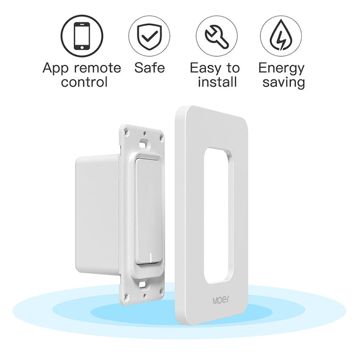 Moeshouse US WiFi Smart Wall Light Switch Dimmer Mobile APP Remote Control No Hub Required Works with Amazon Alexa Google Home IFTTT