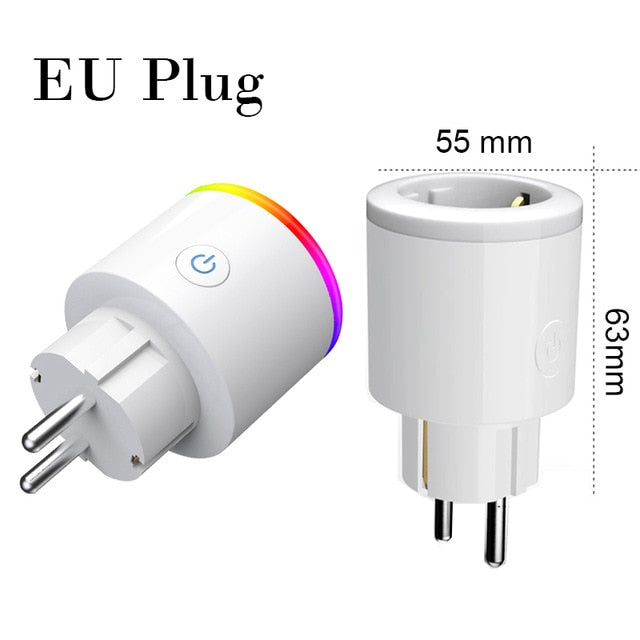 Choifoo Smart Plug Wifi Smart Socket Power Monitor EU US UK Korea Plug Outlet Works With Google Home Mini Alexa IFTTT