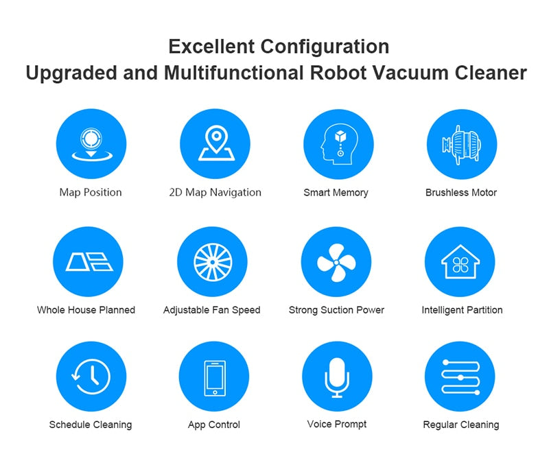Liectroux Robot Vacuum Cleaner ZK808, WiFi App,3000pa Suction, Map Navigation, Smart Memory,UV Lamp,Wet Dry Mop,Brushless Motor