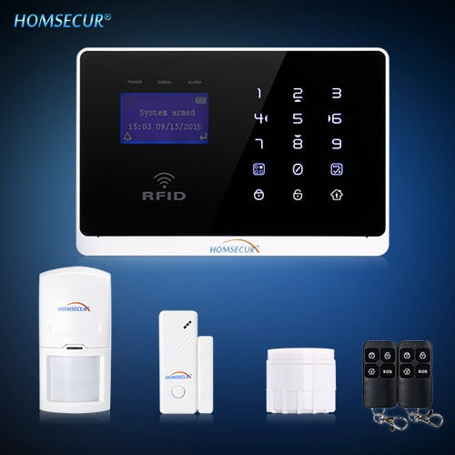 Homsecur Wireless&Wired GSM Home Security Burglar Alarm System+IOS/ Android App [EU Warehouse]