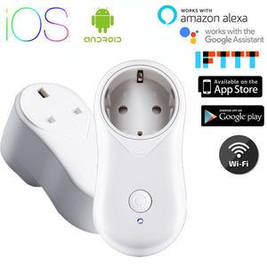 CHOIFOO Smart Wifi Plug with Alexa Google Home Assistant App Remote Control  Power 10A Switch Audio Wireless Control Smart Outlet Socket