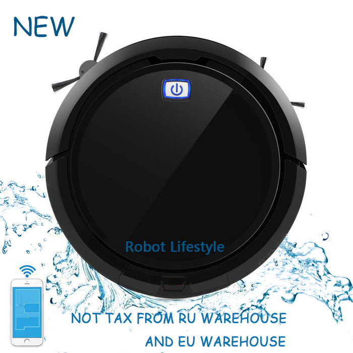 Robot Lifestyle Smart Memory 3D Map Navigation Smartphone App Control Intelligent Vacuum Cleaner Robot QQ9 With Water Tank, Extendable Brush