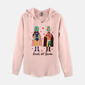 Amor del Bueno V-Neck Hooded Sweatshirt - Fiesta Kits USA