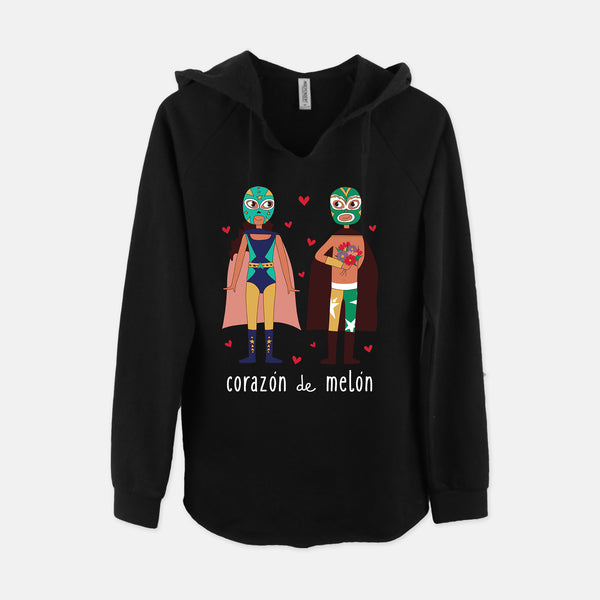 Corazón de Melón V-Neck Hooded Sweatshirt - Fiesta Kits USA