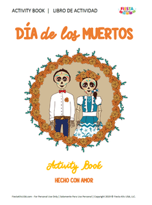 Día de Los Muertos Activity Book (Printable, Digital Download) - Fiesta Kits USA