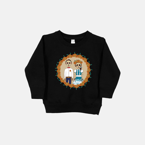 Día de Los Muertos Toddler Crew Neck Sweater (Vintage/Distressed Design) - Fiesta Kits USA