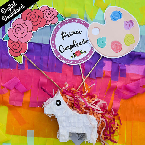 Frida Photo Props Kit (Printable, Digital Download) - Fiesta Kits USA