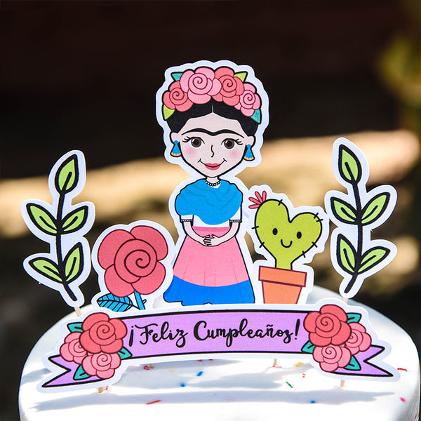 Frida Birthday Party Kit (Printable, Digital Download) - Fiesta Kits USA