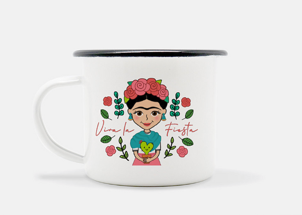 Camp Mug (black rim) - Fiesta Kits USA